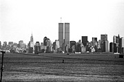 Twin Towers Trade Center Posters - Twin Towers from Staten Island Poster by John Rizzuto