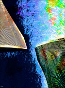 Twin Towers Trade Center Digital Art Metal Prints - Twin Towers No.2 Metal Print by Daniel Janda