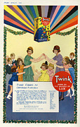 Featured Metal Prints - Twink 1923 1920s Uk Cc Lux Washing Metal Print by The Advertising Archives