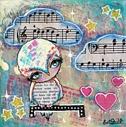 Twinkle Mixed Media Framed Prints - Twinkle In The Sky Framed Print by Lizzy Love of Oddball Art Co