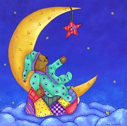 Twinkle Framed Prints - Twinkle Little Star Framed Print by Tracy Campbell