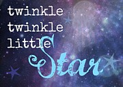 Twinkle Framed Prints - Twinkle Twinkle Little Star Framed Print by Divinely Inspired