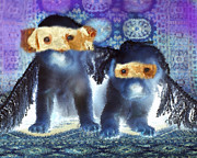Dogs Digital Art Originals - Twins by Angels