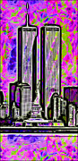 Twin Towers World Trade Center Digital Art - Twins by Daniel Janda