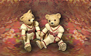 Bears Digital Art - Twins by Linda Phelps