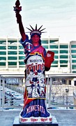 Minnesota Twins Mixed Media Prints - Twins Statue Of Liberty  Print by Todd and candice Dailey
