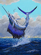 Black Marlin Framed Prints - Twisted Off0013 Framed Print by Carey Chen