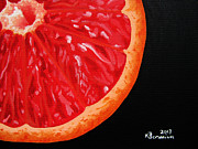Grapefruit Paintings - Twisted Passion by Kayleigh Semeniuk