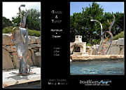 Aluminum Outdoor Sculpture Sculptures - Twists and Turns by Mark Ansier