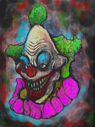Klown Framed Prints - TwiztedKillerKlown Framed Print by Lola Carvajal