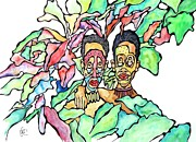 Glenn Calloway - Two African Men In Leaves