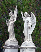 Angel Photo Prints - Two Angels Print by Terry Reynoldson