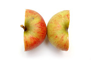 Foods Art - Two apple halves by Michal Bednarek