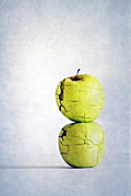 Yellow Apples Posters - Two Apples Poster by Kristin Kreet
