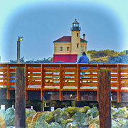 Lighthouse Digital Art - Two at Rest by Dale Stillman