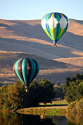 Prosser Balloon Rally Prints - Two Balloons in Morning Sunshine Print by Carol Groenen