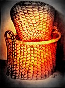 Baskets Mixed Media - Two Baskets by Irving Starr