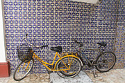 Linda Queally Metal Prints - Two Bicycles at the Hotel Belmar Metal Print by Linda Queally