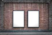 Billboard Photos - Two blank boards by Antony McAulay