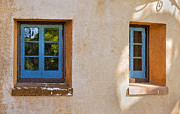 Spanish House Prints - Two Blue Windows Print by Rich Franco