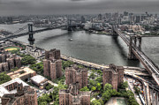 Fdr Drive Prints - Two Bridges Print by David Davila