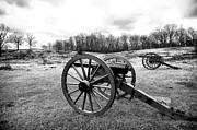 Artillery Metal Prints - Two Cannons Metal Print by John Rizzuto