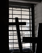Ledge Photos - Two Crosses by Art Block Collections