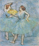 Ballet Dancers Posters - Two Dancers Poster by Nomad Art And  Design