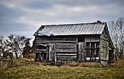 Sheds Prints - Two Door Farm Shed Print by Greg Jackson