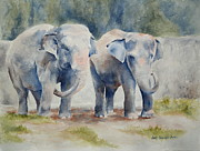 Lisa Pope - Two Elephants