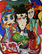 Brilliant Paintings - Two-Face and Friends by Susan DeBow