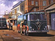 Old England Painting Prints - Two Fodens Print by Mike  Jeffries