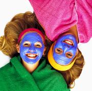 Women Together Posters - Two Girls Getting Pampered Poster by Ron Nickel