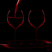 Hildingsson Prints - Two glass red Print by Johnny Hildingsson