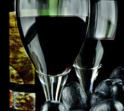 Alcohol Originals - Two glasses with red wine by Tommy Hammarsten