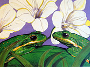 Debbie Chamberlin - Two Green Tree Frogs
