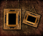 Wood Wall Hanging Framed Prints - Two Hanging Frames Framed Print by Christopher and Amanda Elwell