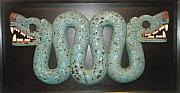 Mosaic Reliefs - Two-headed snake. by Jose Manuel Solares