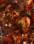 Abstract Hearts Digital Art - Two Hearts by Paul St George