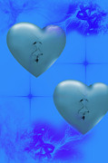 Hearts Digital Art - Two hearts together on Valentines Day  by Angel Jesus De la Fuente