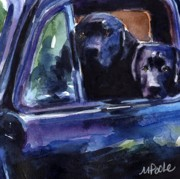 Labradors Prints - Two Into Fifty One Print by Molly Poole