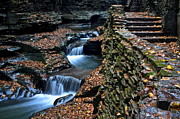 Finger Lakes Prints - Two Kinds of Steps Print by Robert Harmon