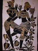 Musicians Tapestries - Textiles Originals - Two Lady Dancers by Community in Sri Lanka