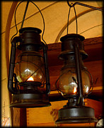 Lanterns Photos - Two Lanterns by Kae Cheatham