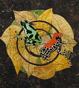 Frogs Tapestries - Textiles Posters - Two Little Beauties Poster by Lynda K Boardman
