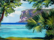 Tropical Pastels - Two Lovers Point no.2 by Lisa Pope