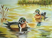 Kristina Delossantos - Two Male Wood Ducks