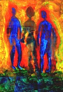 Scientific Mixed Media - Two men and a shadow by Hilde Widerberg