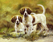 Realism Dogs Art - Two of a Kind by Bob Hallmark