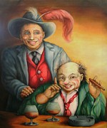 Pamela Humbargar - Two Old Clowns